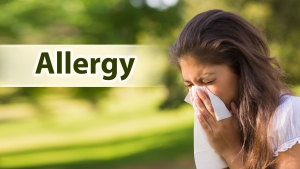 Allergy can cause dizziness.