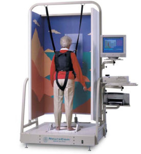 Vestibular rehabilitation with computerised dynamic posturography (CDP)