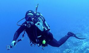 Scuba diving may cause vertigo
